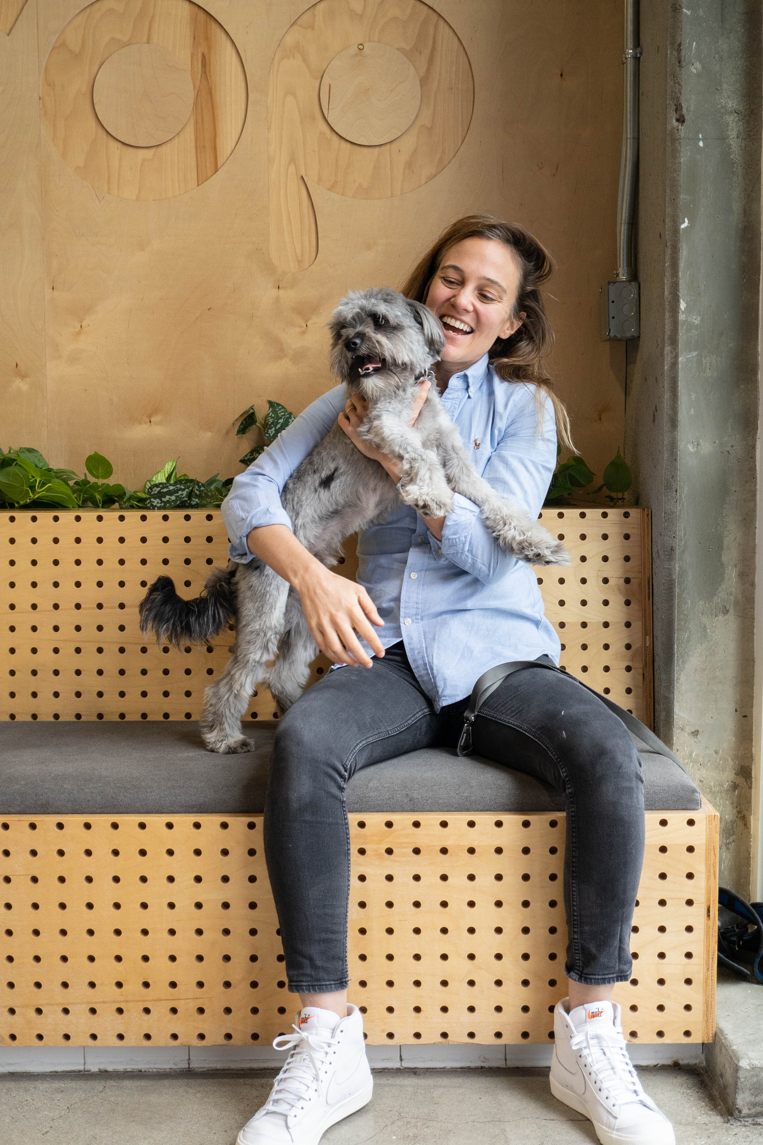 happy dog parent at Dogdrop dog daycare Los Angeles